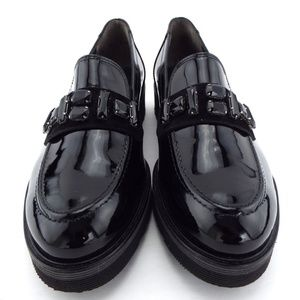 New PAUL GREEN Black Crystal Loafers 7.5UK/10US